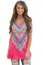 Women Kaleidoscope Dreams Tank Top Watermelon Red