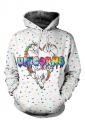 Unicorn Printed Draw String Front Pocket Pullover Hoodie Multicolor