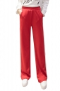 Womens Casual Side Stripe Straight Wide Leg Leisure Pants Red