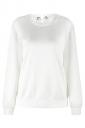 Womens Long Sleeve Wing Printed Eyelet Lace Up Sweatshirt White