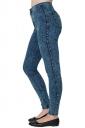 Womens High Waist Ankle Length Plain Skinny Pencil Jeans Blue