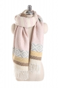 Womens Trendy Tassel Wave Printed Shawl Scarf Pink