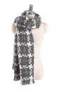 Womens Thicken Houndstooth Printed Shawl Scarf Gray