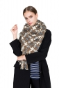 Womens Thicken Houndstooth Printed Shawl Scarf Khaki
