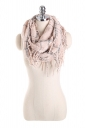Womens Stylish Fringe Shawl Plaid Scarf Pink