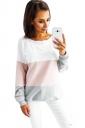 Womens Stripe Oversized Long Sleeve T-Shirt Pink