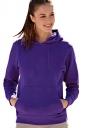 Drawstring Long Sleeve Kangaroo Pocket Sport Plain Hoodie Purple