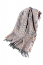 Womens Fringe Thicken Warm Shawl Tartan Plaid Scarf Ginger