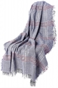 Womens Fringe Thicken Warm Shawl Tartan Plaid Scarf Light Blue