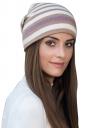 Womens Warm Outdoor Slouchy Stripe Color Block Knit Beanie Hat Khaki