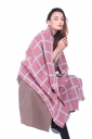 Womens Classic Shawl Tassel Winter Tartan Plaid Scarf Pink