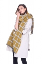 Womens Classic Shawl Tassel Winter Tartan Plaid Scarf Yellow