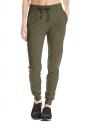 Womens Sports Style Drawstring Pocket Plain Leisure Pants Army Green