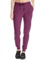Womens Sports Style Drawstring Pocket Plain Leisure Pants Ruby