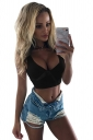 Womens Sexy Sleeveless Bowknot Plain Crop Top Black