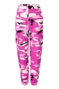Womens Oversized Button Pocket Camouflage Pants Pink