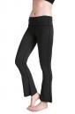 Womens Close-Fitting High Waisted Wide Leg Plain Bell Pants Dark Gray