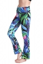 Womens Close-Fitting High Waisted Wide Leg Printed Bell Pants Green