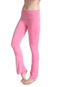 Womens Close-Fitting High Waisted Wide Leg Plain Bell Pants Pink