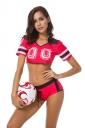 Energetic World Cup Football Baby France Cheerleading Uniforms Red