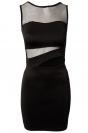 Fashion Summer Ladies Cut Out Mesh Bodycon Dress