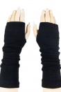 Black Ladies Cute Fingerless Winter Classic Warm Gloves