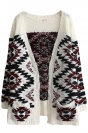 Ruby Chic Womens Folk Style Oversized Cardigan Sweater