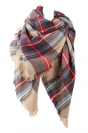 Womens Pretty Warm Winter Colorful Plaid Scarf Red