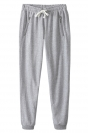 Gray Loose Zipper String Ladies Cool Fashion Leisure Pants