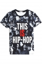 T Shirt Womens 3D Hip-Hop Men Printed Fashion Blue