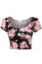 Pink Floral Printed Sexy Chic Ladies Crop Top