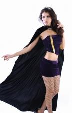 Purple Deluxe Queen Satin Tube Top & Skirt