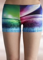 Two Colors Glass Sky Galaxy Shorts