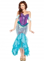 Deluxe Womens Sequins Princess Mermaid Costume