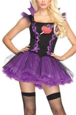 Purple Stylish Ladies Evil Queen Halloween Costume