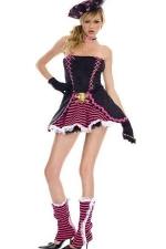 Black Stunning Ladies Pirate Halloween Costume
