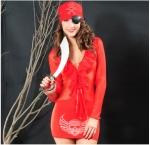 Red Stunning Ladies Sexy Halloween Pirate Costume