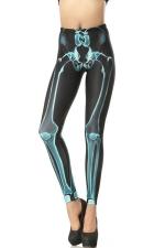 Black Modern Womens Skinny Skeleton Leggings