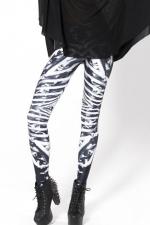 Black and White Fashion Womens Fit Skeleton Leggings