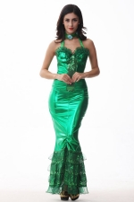 Green Sexy Ladies Adult Halloween Mermaid Costume