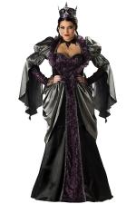 Black Chic Womens Renaissance Halloween Evil Queen Costume