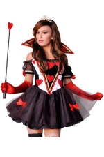 Black Fabulous Queen of Hearts Halloween Dress Costume