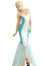 Blue Fancy Womens Mermaid Halloween Slim Costume