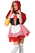 Red Halloween Sexy Ladies Little Red Riding Hood Fairytale Costume