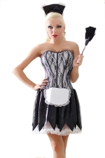 Black Halloween Sexy Ladies French Maid Naughty Costume