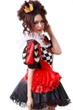 Red Halloween Evil Queen of Hearts Alice in Wonderland Costume