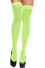 Green Modern Ladies Candy Color Plain Long Stockings
