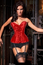 Red Sexy Womens Bowknot Slimming Royal Over Bust Corset
