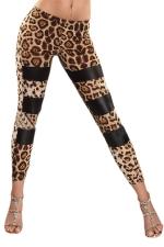 Sexy Leopard Printed Leggings Yellow