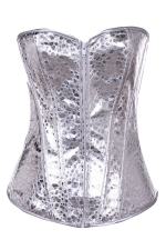Silvery Zipper Sexy Chic Ladies Over Bust Corset